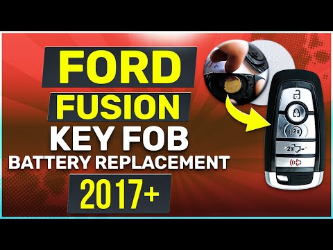 Ford Fusion Remote Key Fob Battery Replacement 2017 2018 2019