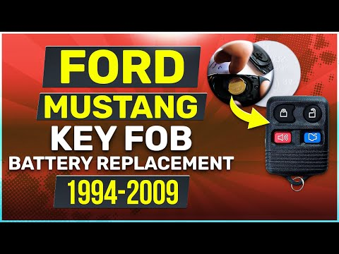 Ford Mustang Remote Key Fob Battery Replacement (1994 - 2009)