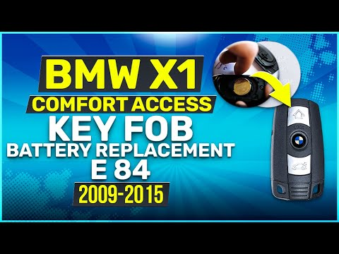 2009 - 2015 BMW X1 Key Battery Replacement E84 Fob Remote Comfort Access
