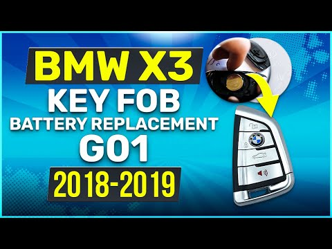 2018, 2019 BMW X3 Key Battery Replacement G01 Fob Remote
