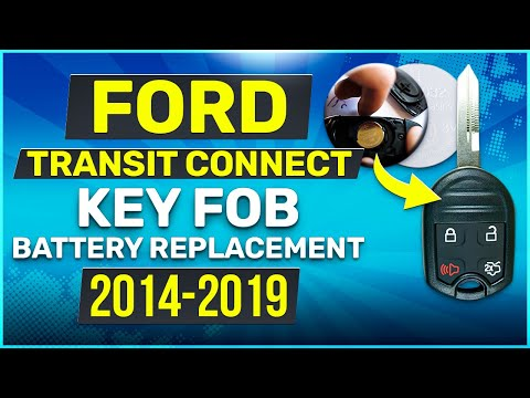 Ford Transit Connect Remote Key Fob Battery Replacement 2014 2015 2016 2017 2018 2019
