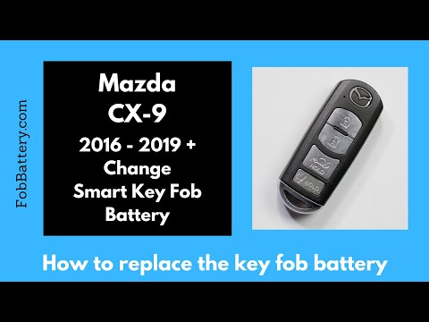 Mazda CX-9 Smart Key Fob Battery Replacement (2016 - 2019)
