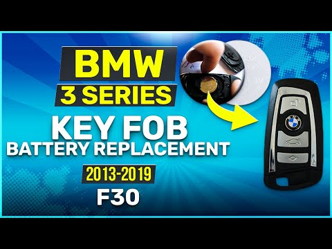2013 - 2019 BMW 3 Series Key Battery Replacement F30 Fob Remote