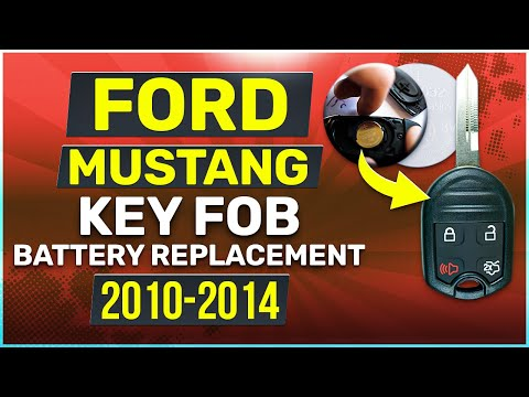 Ford Mustang Remote Key Fob Battery Replacement (2010, 2011, 2012, 2013, 2014)