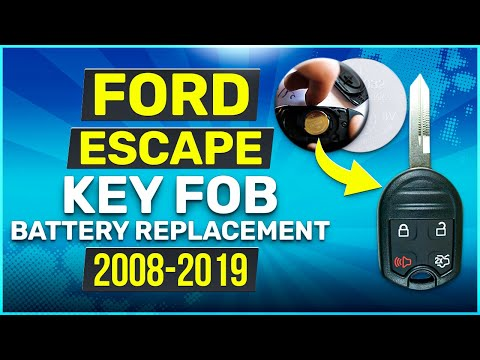2008 - 2019 Ford Escape Key Fob Battery Replacement