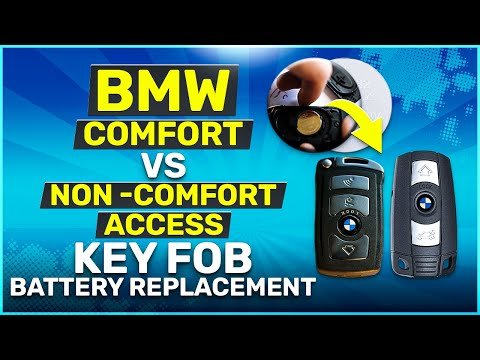 Changing the Battery in BMW Comfort Access vs Non Comfort Access Key Fob Remotes