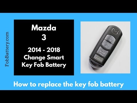Mazda 3 Smart Key Fob Battery Replacement (2014 - 2018)