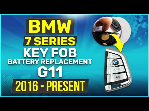 2016 - 2019 BMW 7 Series Key Battery Replacement G11 Fob Remote