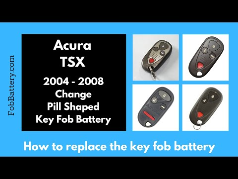 Acura TSX Key Fob Battery Replacement (2004 - 2008)