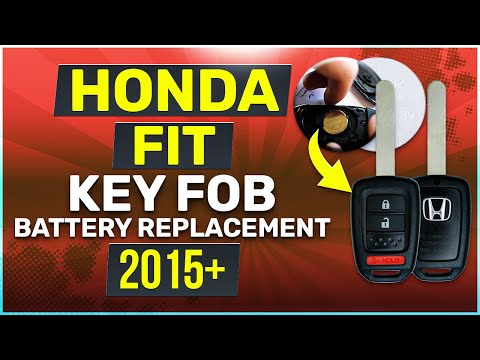 Honda Fit Key Battery Replacement Guide Physical Key
