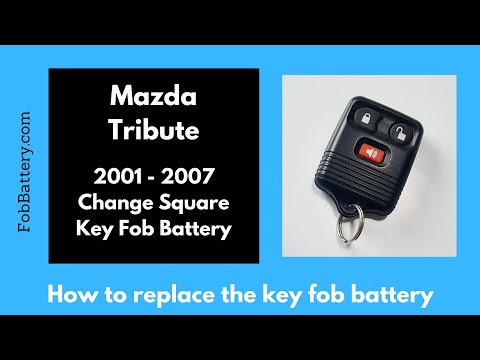 Mazda Tribute Square Key Fob Battery Replacement (2001 - 2007)
