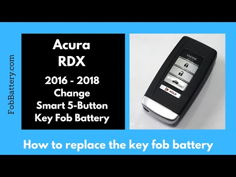 Acura RDX Key Fob Battery Replacement (2016 - 2018)