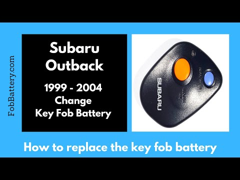 Subaru Outback Key Fob Battery Replacement (1999 - 2004)