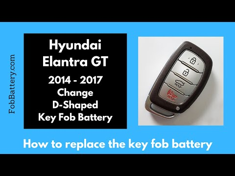 Hyundai Elantra GT Key Fob Battery Replacement (2014 - 2017)