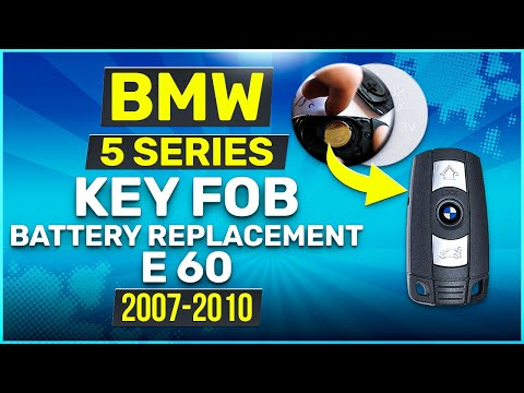 2007 - 2010 BMW 5 Series Key Battery Replacement E60 Fob Remote