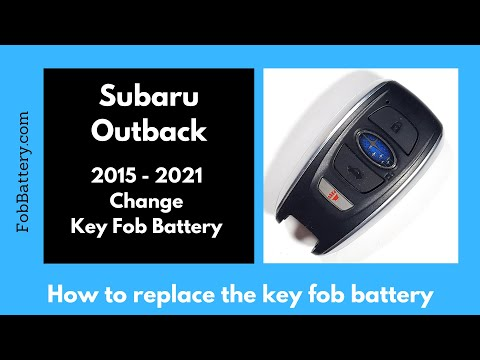 Subaru Outback Key Fob Battery Replacement (2015 - 2021)