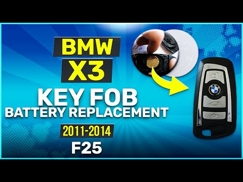 2011 - 2014 BMW X3 Key Battery Replacement F25 Fob Remote