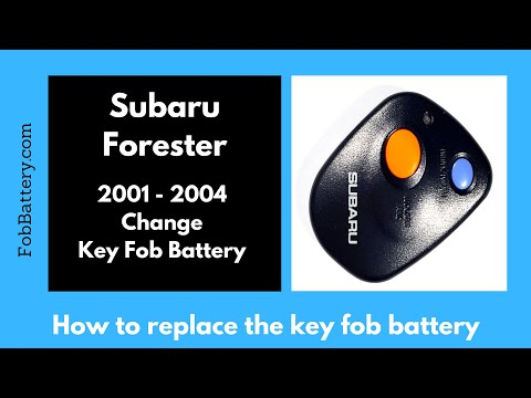 Subaru Forester Key Fob Battery Replacement (2001 - 2004)