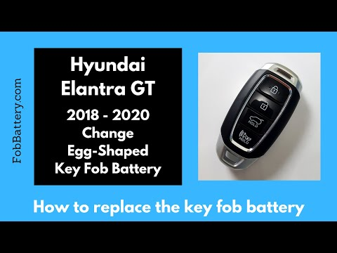 Hyundai Elantra GT Key Fob Battery Replacement (2018 - 2020)