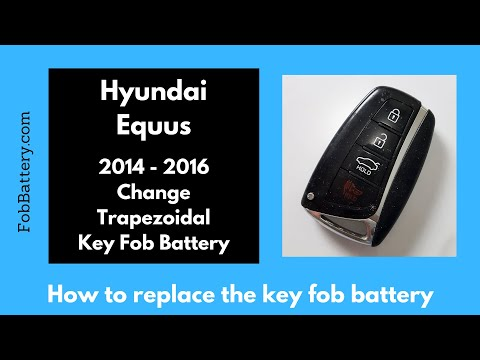 Hyundai Equus Key Fob Battery Replacement (2014 - 2016)