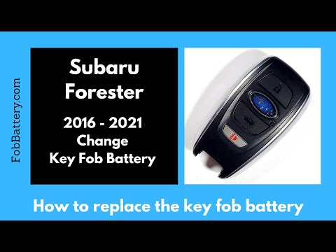 Subaru Forester Key Fob Battery Replacement (2016 - 2021)