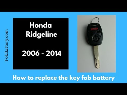 2006 - 2014 Honda Ridgeline Key Battery Replacement Guide