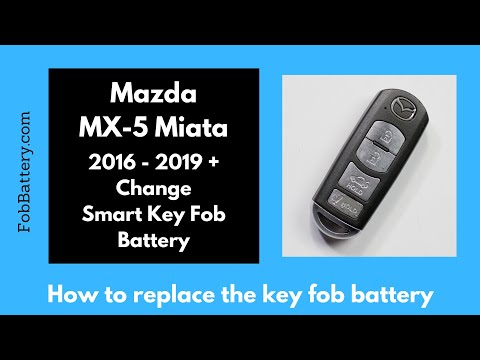 Mazda MX-5 Miata Smart Key Fob Battery Replacement (2016 - 2019)