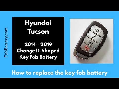 Hyundai Tucson Key Fob Battery Replacement (2014 - 2019)