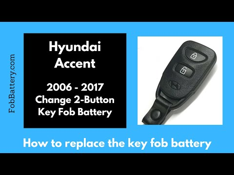 Hyundai Accent Key Fob Battery Replacement (2006 - 2017)
