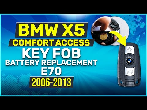 2006 - 2013 BMW X5 Key Battery Replacement E70 Fob Remote