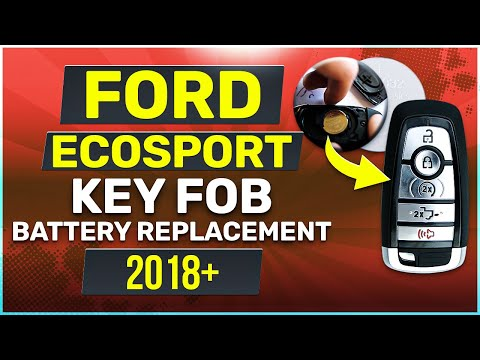 Ford EcoSport Remote Key Fob Battery Replacement 2018 2019