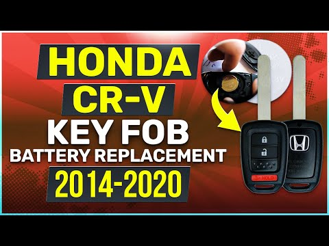 Honda CR-V Key Battery Replacement Guide Physical Key