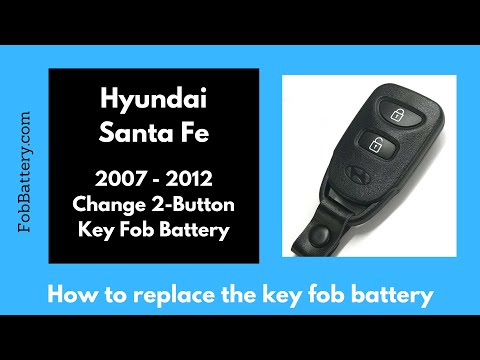 Hyundai Santa Fe Key Fob Battery Replacement (2007 - 2012)