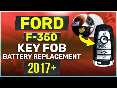 Ford F-350 Remote Key Fob Battery Replacement 2017 2018 2019