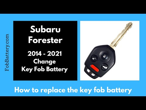 Subaru Forester Key Fob Battery Replacement (2014 - 2021)