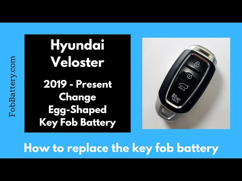 Hyundai Veloster Key Fob Battery Replacement (2019 - Present)