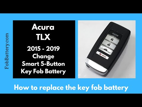 Acura TLX Key Fob Battery Replacement (2015 - 2020)