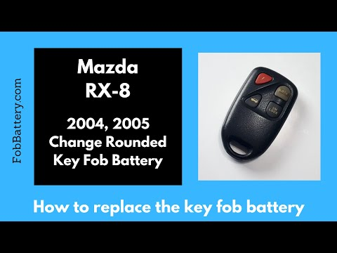 Mazda RX-8 Rounded Key Fob Battery Replacement (2004, 2005)