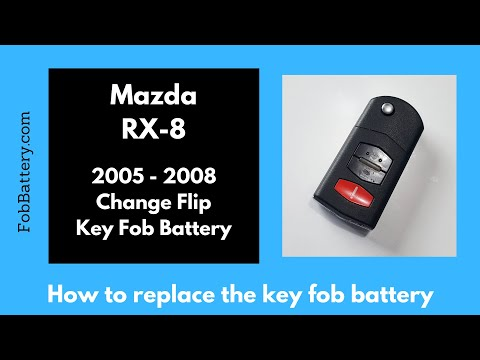 Mazda RX-8 Flip Key Fob Battery Replacement (2005 - 2008)