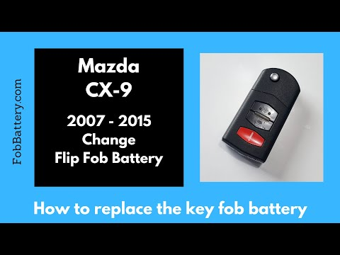 Mazda CX-9 Flip Key Fob Battery Replacement (2007 - 2015)