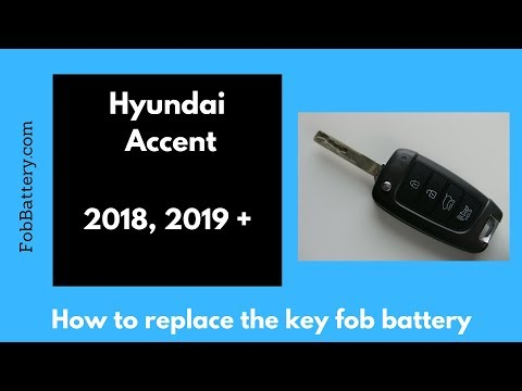 2018, 2019 Hyundai Accent Keyless Entry Flip Key Fob Battery Replacement