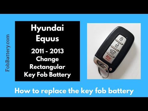 Hyundai Equus Key Fob Battery Replacement (2011 - 2013)