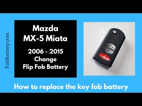 Mazda MX-5 Miata Flip Key Fob Battery Replacement (2006 - 2015)