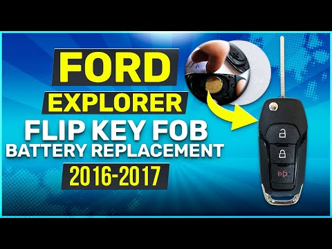2016 2017 Ford Explorer Flip Key Fob Battery Replacement