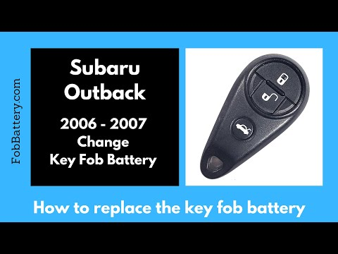 Subaru Outback Key Fob Battery Replacement (2006 - 2007)