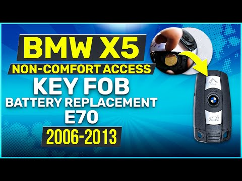 2006 - 2013 BMW X5 Series Key Battery Replacement E70 Non-Comfort Access Fob Remote
