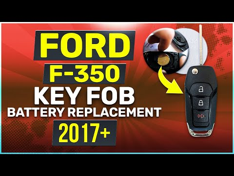 Ford F-350 Remote Key Fob Battery Replacement 2018 2019