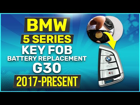 2017 - 2019 BMW 5 Series Key Battery Replacement G30 Fob Remote