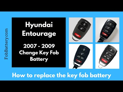 Hyundai Entourage Key Fob Battery Replacement (2007 - 2009)