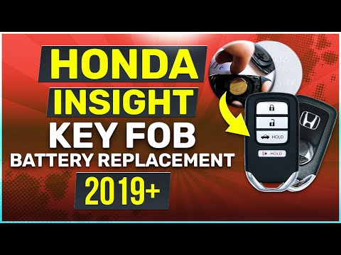 Honda Insight Key Battery Replacement Guide 2019 - 2020